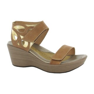 Naot Women's Intrigue Gold/Brown Rubber/Leather/Suede Comfort Wedge