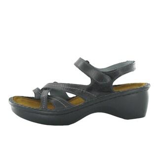 Naot Women's Paris Black Suede/Leather/Polyurethane Comfort Sandal