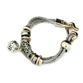 Elegance Essential Aromatherapy Jewelry Braided Gray Oil Diffuser Bracelet