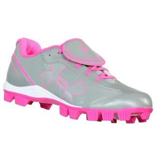 Under Armour Women's Glyde RM CC Gray/Pink/White Softball Shoes