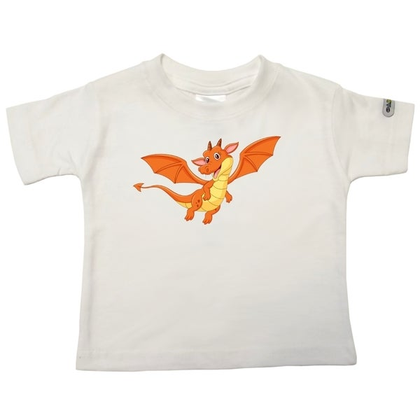 Dragon White Cotton Printed Infant T-shirt
