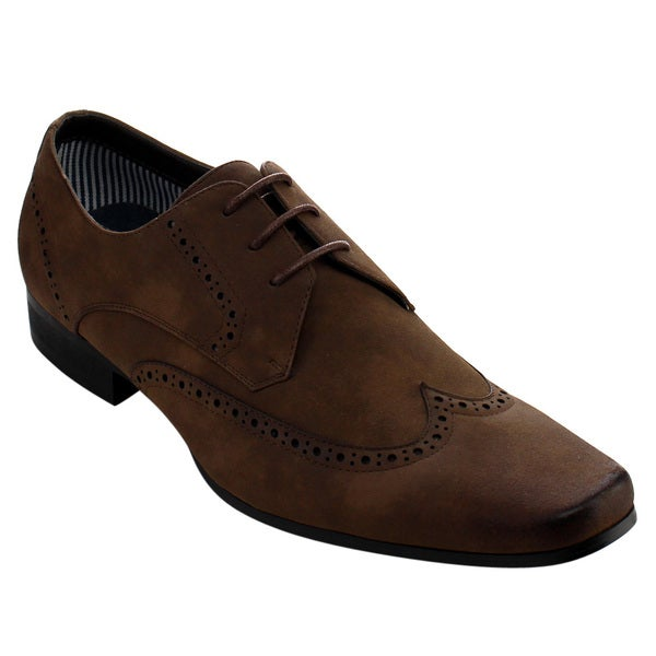 Arider Men's Brown Faux-leather Oxford Shoes