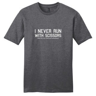 Sweetums 'I Never Run with Scissors' Funny Unisex T-shirt