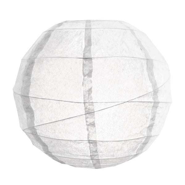 White 12-inch Criss Cross Paper Lanterns (Pack of 5)