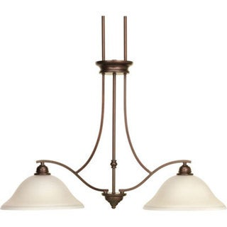 Progress Lighting P4558-20 Spirit Two-light Linear Island Chandelier
