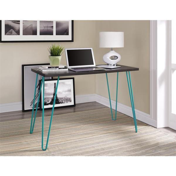 Altra Owen Espresso Teal Retro Desk 18924310