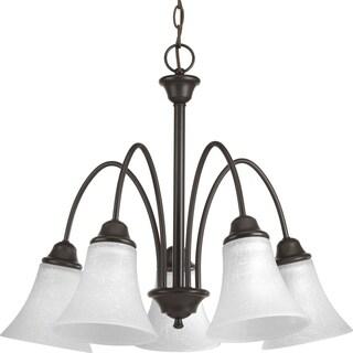 Progress Lighting P4741-20 Tally Bronze Steel/Porcelain Five-light Chandelier