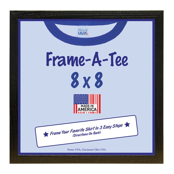 Frame-A-Tee Kid's Black Wood 8 x 8-inch T-shirt Wall Frame