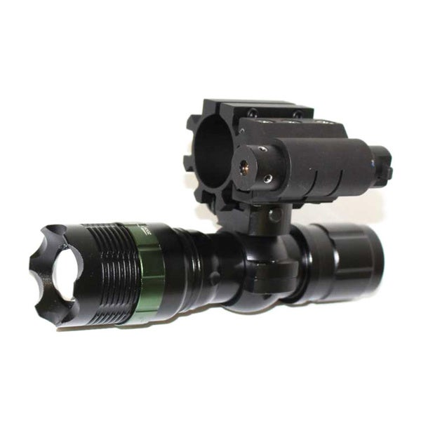 Trinity 12-Gauge Shotgun Barrel/Magazine Mounted Tactical 3.5-watt Strobe LED Zoomable Flashlight with Red Laser Kit