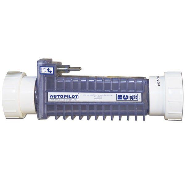 Aqua Cal RC-35/22 Autopilot Pool Pilot Digital Chlorine Generator Replacement Cell with Unions