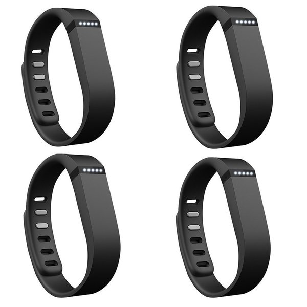 Fitbit Flex Wireless Activity + Sleep Wristband (4-Pack, Black)
