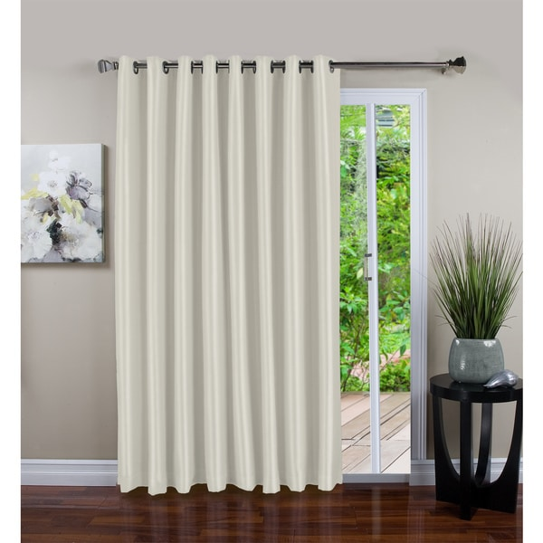 Haromy Polyester Grommet Patio Curtain Panel with Black-out Liner (As Is Item)