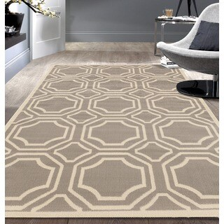Modern Geometric Grey Area Rug (7'6x9'5)