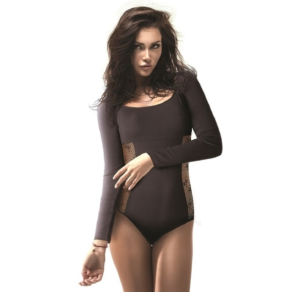 Miorre Long-sleeved Bodysuit with Lace Detail