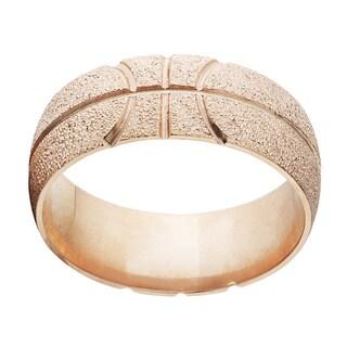 Solid 14k Rose Gold Basketball Ring