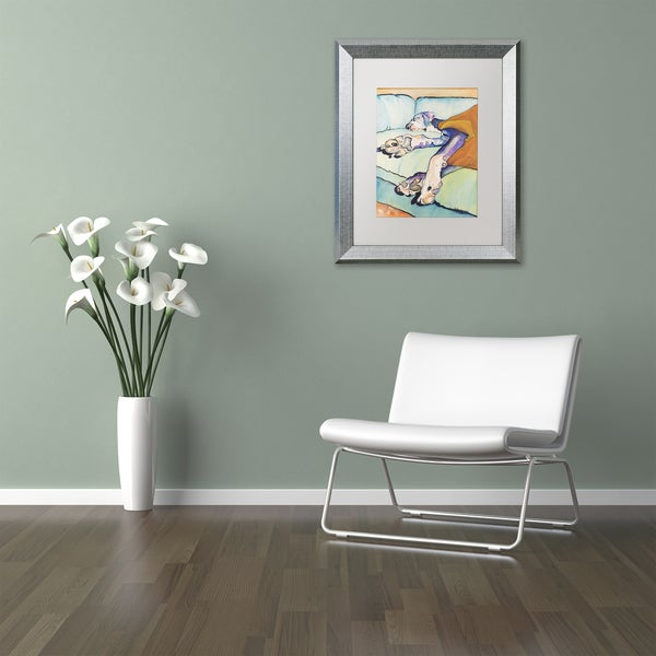 Pat Saunders-White 'Sweet Sleep' Matted Framed Art