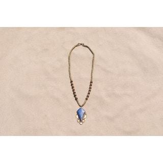 Handmade Diamond Shaped Lapis Lazuli Necklace