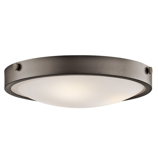 Kichler Lighting Lytham Collection 3-light Olde Bronze Flush Mount