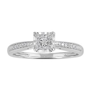 10k Gold 1/10 ct T.W. Diamond Square Frame Promise Ring (I-J, I2-I3)