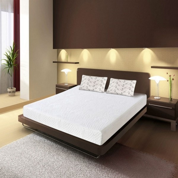 Double Layed 10-inh Full-size Memory Foam Mattress
