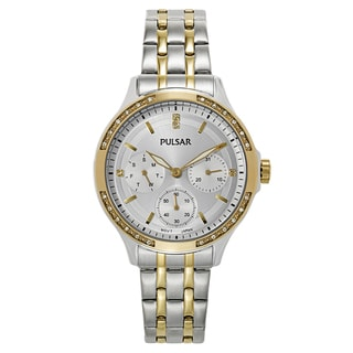 Pulsar Women's Gold and Stainless Steel Watch