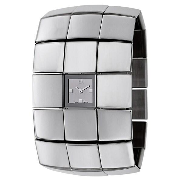 Calvin Klein Silvertone Sapphire/Stainless Steel Watch