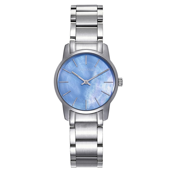 Calvin Klein Ladies Blue Stainless Steel Dial Watch