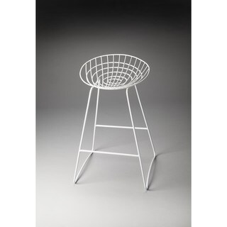 Butler Ludwig White Iron Bar Stool