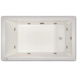 Signature Bath White Acrylic Drop-in Whirlpool Tub