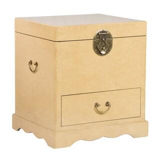 Zahava Home Collection Tamano Storage Chest/End Table (Cream)
