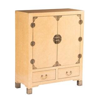 Zahava Home Collection Shanghai Vintage Style Storage Cabinet (Cream)