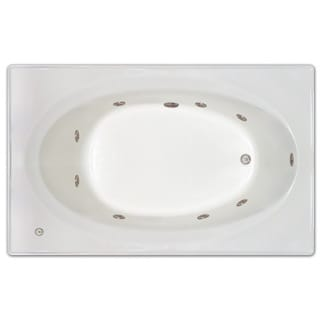 Signature Bath White Acrylic 72-inch x 42-inch x 19-inch Drop-in Whirlpool Tub With Stainless Jets