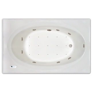 Signature Bath White Acrylic 72-inch x 42-inch x 19-inch Drop-in Whirlpool/Air Combo Tub