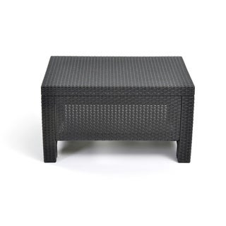 Keter Corfu Charcoal Brown Resin Wicker All-weather Outdoor Coffee Table