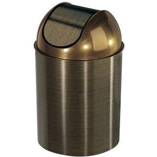 Umbra Mezzo Bronze 2.5-gallon Swing-top Waste Can