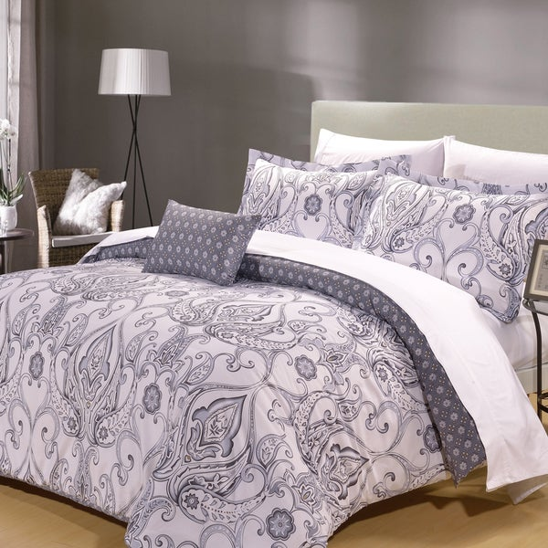 Plymouth Cotton 8-piece Duvet Cover and Sheet Set