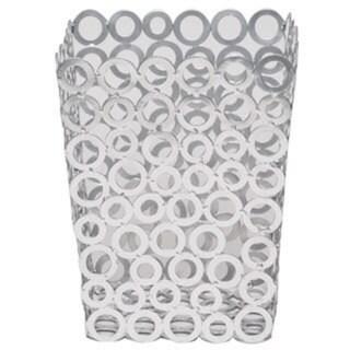 Vanilla Rings Silver Waste Bin