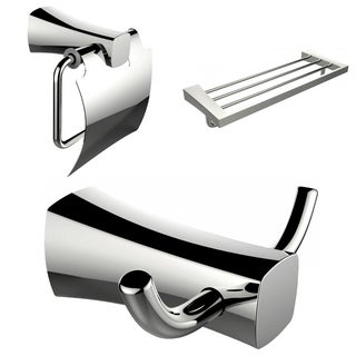 Robe Hook, Toilet Paper Holder And Multi-Rod Towel Rack Accessory Set