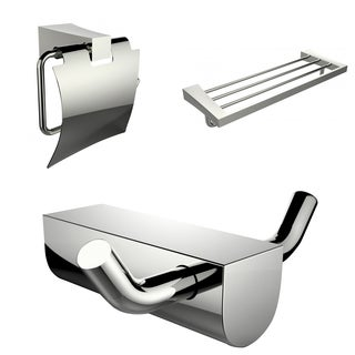 Modern Multi-Rod Towel Rack, Toilet Paper Holder And Robe Hook Accessory Set