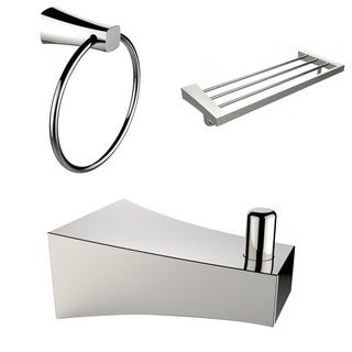 Multi-Rod Towel Rack With Robe Hook And Towel Ring Accessory Set