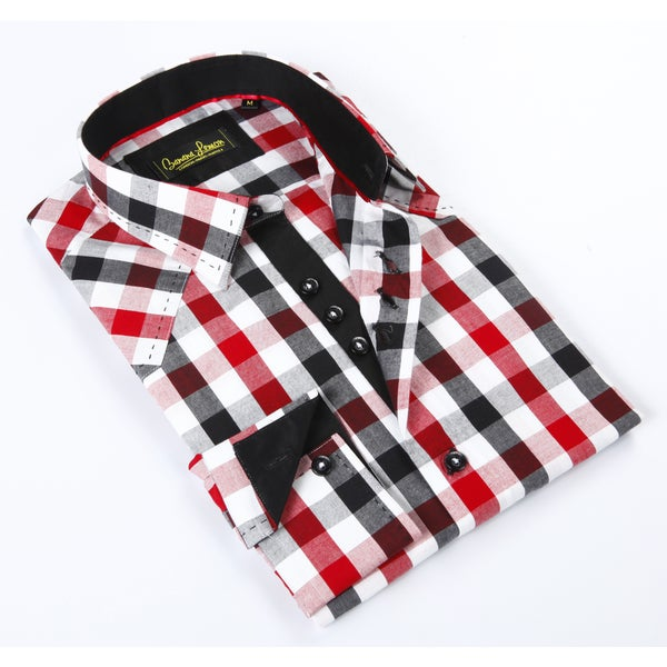 Banana Lemon Classic Button Down Multi Color Gingham Dress Shirt