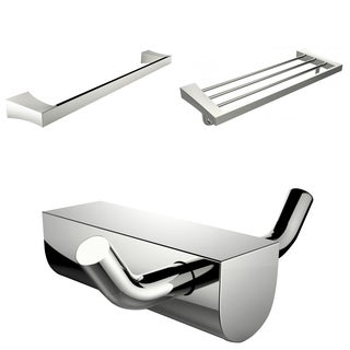 Chrome Plated Robe Hook With Single Towel Rod And Multi-Rod Towel Rack Accessory Set