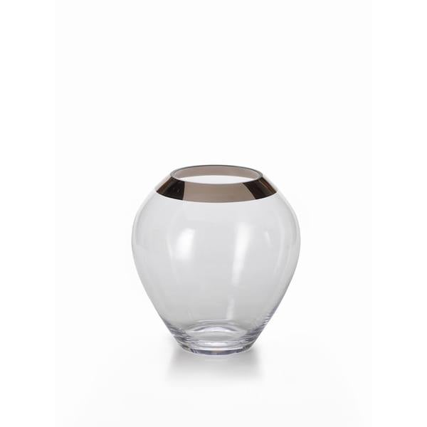 Floris Vase with Platinum Rim-Medium