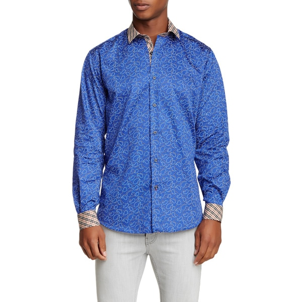 Banana Lemon Dat Long-sleeve Blue Cotton Design Shirt