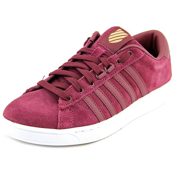 K-Swiss Women's Hoke SDE CMF Red Suede Regular Athletic Shoes