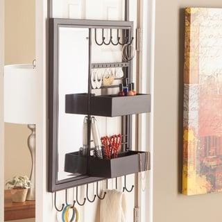 Upton Home Jocelin Over-the-Door Jewelry Mirror/ Storage