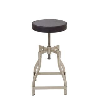 Metal Leather Adjustable Stool (13 inch Wide x 29 inch High)
