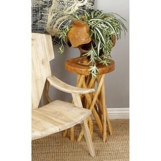 Distinctive Teak Wood Stool (18-inch Wide x 22-inch High)