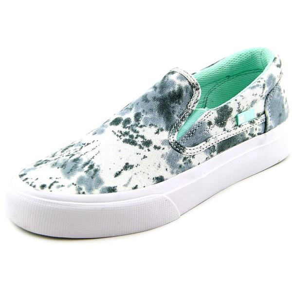DC Shoes Women's Trase Slip-On SP Multi-color Cotton Canvas Athletic Shoes