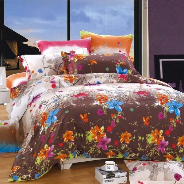 Blossom Cotton 4-piece Duvet Cover Set